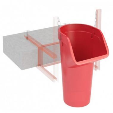 Секция приемная пластиковая мусоросброса