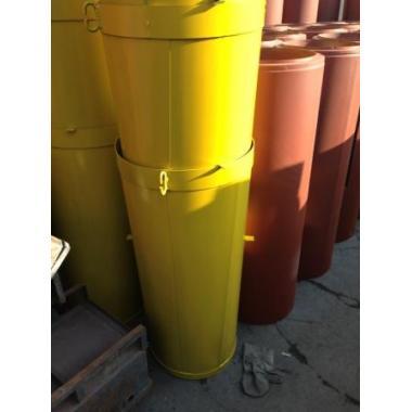 Секция прямая металлического мусоросброса