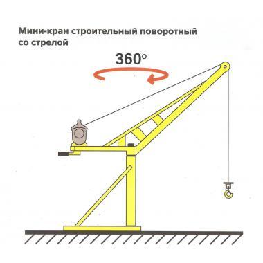 Кран стреловой поворотный Мастер-500-100